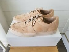 NEW Men's Common Projects Bball Low Sneakers in Nubuck Nude Tan - 44 EU | 11 US