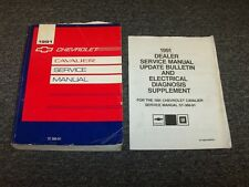 1991 Chevy Cavalier Sedan Shop Service Repair Manual Set VL RS Z24 2.2L 3.1L V6