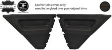 BROWN STITCH 2X REAR DOOR CARD LEATHER COVERS FOR RENAULT 5 CAMPUS 3 DOOR