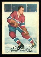 1953 54 PARKHURST HOCKEY #22 JAMES BUD MACPHERSON EX+ MONTREAL CANADIENS CARD
