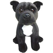 Plush Dog Staffordshire Bull Terrier (black) Soft Cute Collectible Toy Stuffed