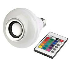 E27 Lamp Smart LED Light Bulb with Remote Bluetooth RGB Color Music Speaker 12W