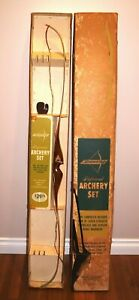 """Vintage BROWNING MOHAWK 62"""" 45# Recurve Bow Archery Bow In Original Box!"""