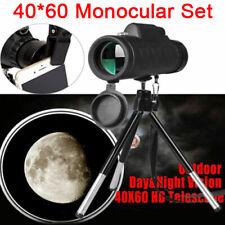 USA 40X60 Zoom Monocular Optical Lens Telescope + Tripod + Clip For Mobile Phone