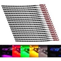 20x 30cm 12V 3528 15SMD LED Flexible Strip Light Waterproof Lamp For Car Motor