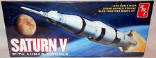 El espacio: Saturno V con el Módulo Lunar 1/200 Escala Amt Model Kit. amt846/12.