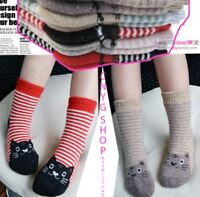 5 Pairs Baby Child Boy Girl Kid Cashmere Wool Thick Warm Soft Winter Terry Socks