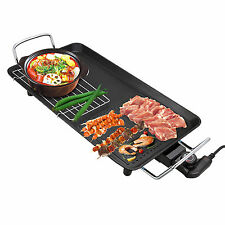 48*28cm Large Non Stick Electric Grill Plate Removable Tray Cooking BBQ Bakelite