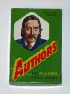 Vintage 1940s All-Fair AUTHORS Card Game! COMPLETE in Original Box! Rare!