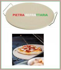 PIETRA PIASTRA D.32,5 REFRATTARIA SUPPORTO INOX TEGLIA CUOCI PIZZA COTTURA FORNO