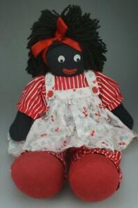 Kate Finn 41cm Female Soft Toy Doll Black Hair Red Clothes & Feet KC788