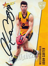 ✺Signed✺ 2012 WEST COAST EAGLES AFL Card ADAM CARTER Future Force