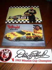 NASCAR DRIVER LARGE POST CARD STICKER COLLECTION LOT