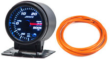 "52mm 2"" Turbo Boost Gauge psi Digital Sensor /Analogue Display + Orange Hose"