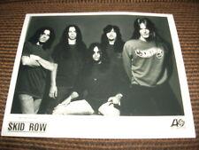 Skid Row B&W Promo 8x10 Photo 80s Hair Band Glam