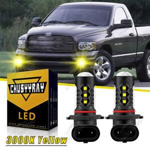 LED Upgrade Fog Light 3K Yellow Bulbs For 2003-18 Dodge RAM 1500 2500 3500 2Pcs