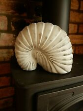 """Large Terracotta Realistic Faux Fossil Ammonite by HOF Linea 6"""" High 1.1kg"""