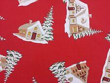 Navidad Casa árboles diseñador Cortina tapicería Tela Artesanal