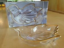 Mikasa Love Song  Golden Dove Gold Trim Sweet  Dish New w/Box