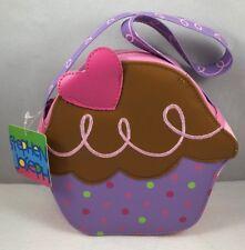 Stephen Joseph Little Girl Sweet Cupcake Go-Go Toddler Purse Pink Purple Brown