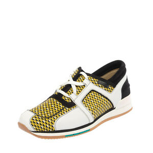 RRP €360 A.TESTONI Leather Sneakers EU 41 UK 7 US 8 Patterned Logo Made in Italy