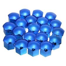 17mm BLUE Mirror CHROME Wheel Nut Covers + tool fits PEUGEOT 206