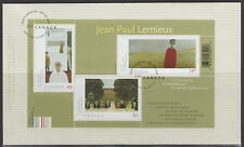 CANADA #2068 ART CANADA JEAN-PAUL LEMIEUX SOUVENIR SHEET FIRST DAY COVER