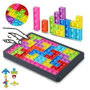 Pop It Game Push Bubble Tetris Puzzle Jigsaw Fidget Toy Sensory Stress Popper