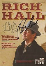 COMEDIAN: RICH HALL SIGNED 8x6 'LIVE 2016' TOUR FLYER+COA *PROOF*