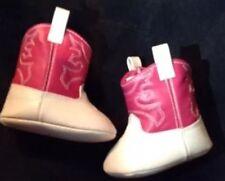 Crawl Babies Infant Girls  Soft Sole Pink Cowboy Boots Size 3