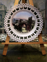 Collectible Vintage Hastings the Castle Ribbon porcelain Wall Plate