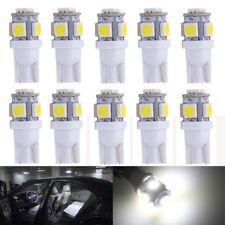 10Pcs Super White T10 Wedge 5-SMD 5050 LED Light bulbs W5W 2825 158 192 168 194