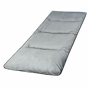 Extra Large Camping Cot Soft Comfortable Cotton Thick Sleeping Mattress Pad Grey