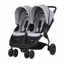 BRITAX B AGILE TWIN DOUBLE PUSHCHAIR STROLLER BUGGY BRAND NEW BOXED STEEL GREY