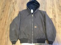 Carhartt Mens Jacket Size 2XL Reg. Light Chocolate Brown
