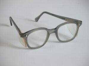 Vtg American Optical Safety Glasses Steampunk Lenses Welding Gray Frames