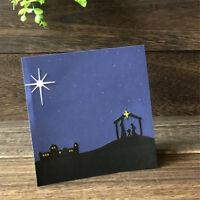 Happy Jesus Nativity Metal Cutting Dies DIY Scrapbooking Photo Album Crafts HU
