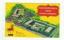"OH Cincinnati Ohio vintage post card ""Carrousel Inn Motor Inn Motel"""