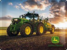 John Deere tramonto in Lamiera Scudo 30x40 cm-SIGN CARTELLO CARTELLI 23190