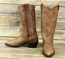 Texas Cowboy Boots Brown Leather Mens Size 6.5 D Country Western Vintage Shoes