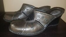 Clark's Artisan Collection Slip On Mules Women's 7M Leather Clogs