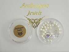 """AB """"OYSTERS & PEARLS"""" ARABESQUES CHARM POT FOR MEMORY/FLOATING PENDANT/NECKLACE"""