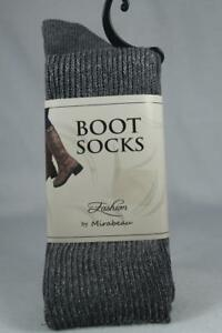 Mirabeau Boot Socks 'Sparkle Gray' Color Size 7-10 New With Tag's!