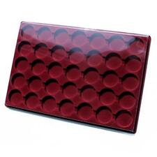 CEZAR RED COIN TRAY PO-35 FOR COINS  - ROUND COMPARTMENT ø 37 mm