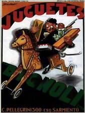 Commercial Pubblicità BIGNOLI Toys ARGENTINA Bambola Cavallo Poster Art Print bb1698a