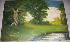 Abstrakte künstlerische Malereien auf Leinwand mit Öl-Technik von 1900-1949