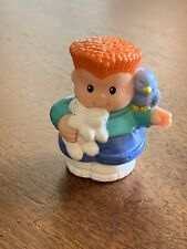 Fisher Price Little People Pet Shop Red Hair Boy with Rabbit & Bird