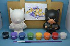 Paint Your Own Batman Superhero Gift Set Figure Kit Him Her Birthday Home Décor
