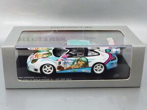 1/43 Spark GOOD SMILE RACING w/ COX - HATSUNE MIKU x GSR PORSCHE 911 GT3 RSR '10