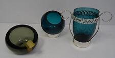 Vintage pop art Design 70s quist vaso de cristal pequeña nuez cenicero brezelglas